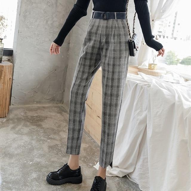High Waist Straight Pants 2