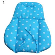 Thick comfortable Colorful Baby Infant Stroller Seat Pushchair Cushion Cotton Mat White Dot(China)