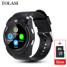 Get more info on the Sport Men Smart Watch v8 sim card android camera rounded Answer Call Dial Call Smartwatch Heart Rate Fitness Tracker