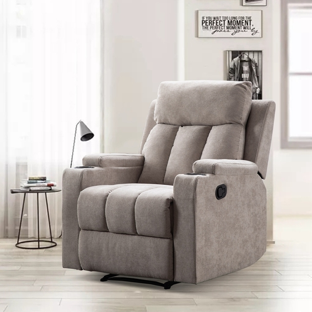 Recliner Chair With 2 Cup Holders for Theater Seating  5
