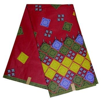 100% cotton African Wax printed batik fabric real Ankara wax tissu high quality pagne material for dress 6 yards