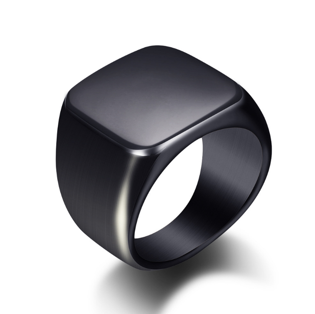 Silver Antique Black Smooth Design Men or Women Ring Fashion Finger Ring  Jewelry WJ001R 4