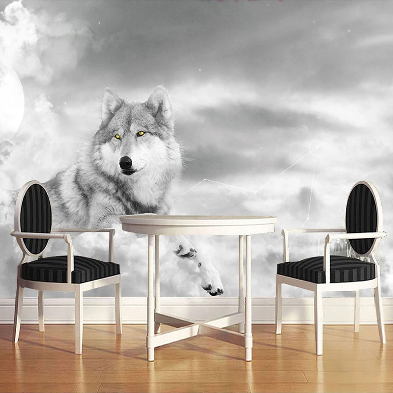 Custom 3D Wall Murals Wallpaper Modern Art Mural Living Room Bedroom Restaurant Wall Decoration Wolf Photo Wall Paper Painting