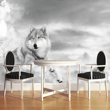 Custom 3D Wall Murals Wallpaper Modern Art Mural Living Room Bedroom Restaurant Wall Decoration Wolf Photo Wall Paper Painting custom 3d wall murals wallpaper modern art mural living room bedroom restaurant wall decoration wolf photo wall paper painting