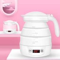 Novel Electric Kettle Collapsible Portable Silicone Folding Fast Water Boiling for Travel Shipping