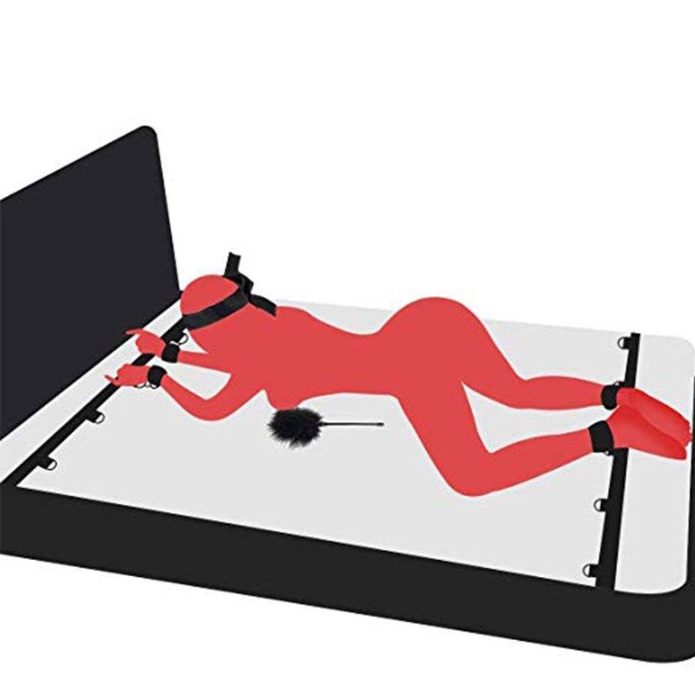 Meubles sexuels jouets sexuels adultes pour Couples jeux érotiques sous lit chambre sangles de retenue menottes cou cheville manchettes BDSM Bondage