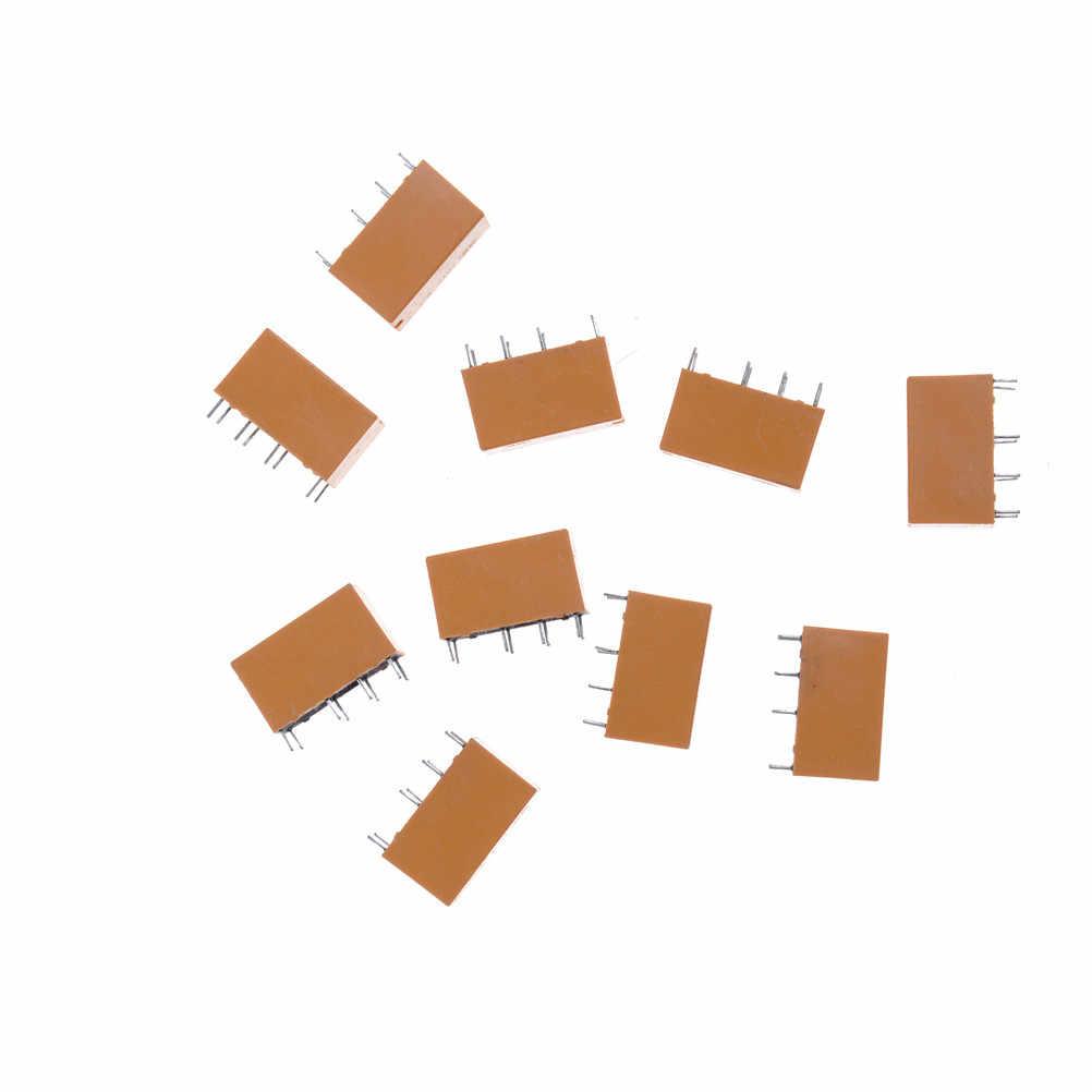10 pièces/lot Mini relais de puissance ensemble PCB Type 8 broches relais de puissance HK19F DC 12V SHG bobine DPDT