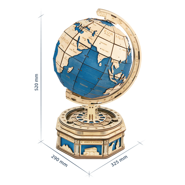 Robotime 567pcs 3D Wooden Puzzle Games Globe Earth Ocean Map Ball Assemble Model Toys Gift for Children Boys