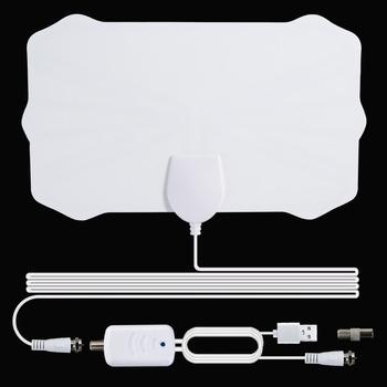 2021 nowa wewnętrzna cyfrowa antena HDTV TV 900 mil promień wzmacniacz DVB-T2 isdb-tb wyczyść antena satelitarna odbiornik sygnału antenowego tanie i dobre opinie hengshanlao NONE CN (pochodzenie) Indoor VHF (170-240Mhz) UHF( 470-860Mhz) N0001-White 220*140*1 1mm 5000 miles 25dB 3 6M