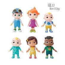 Vários estilos 6-8cm cocomelon figura brinquedos família irmã irmão amigos crianças collectable pvc modelo jj bonecas presente da criança