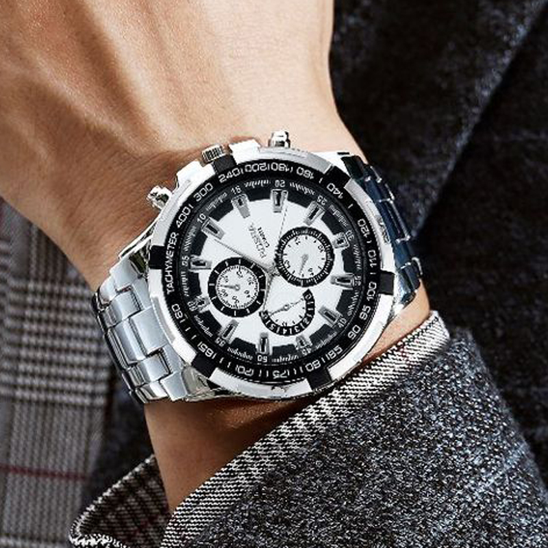 Мужские часы Rosra, мужские стальные часы с 3 декоративными циферблатами, Спортивные кварцевые наручные часы, низкая цена, Прямая поставка