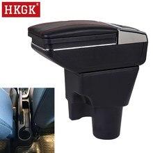 Подлокотник для Kia Picanto, центральный контейнер для хранения с подстаканником и пепельницей, зарядка через USB, Русская версия