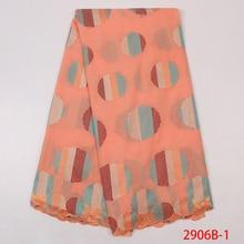 Африканская кружевная ткань Высокое качество цветок женское платье для выступлений на сцене свадебное кружевное вышитое цветной Глобус вышивка YA2906B-1