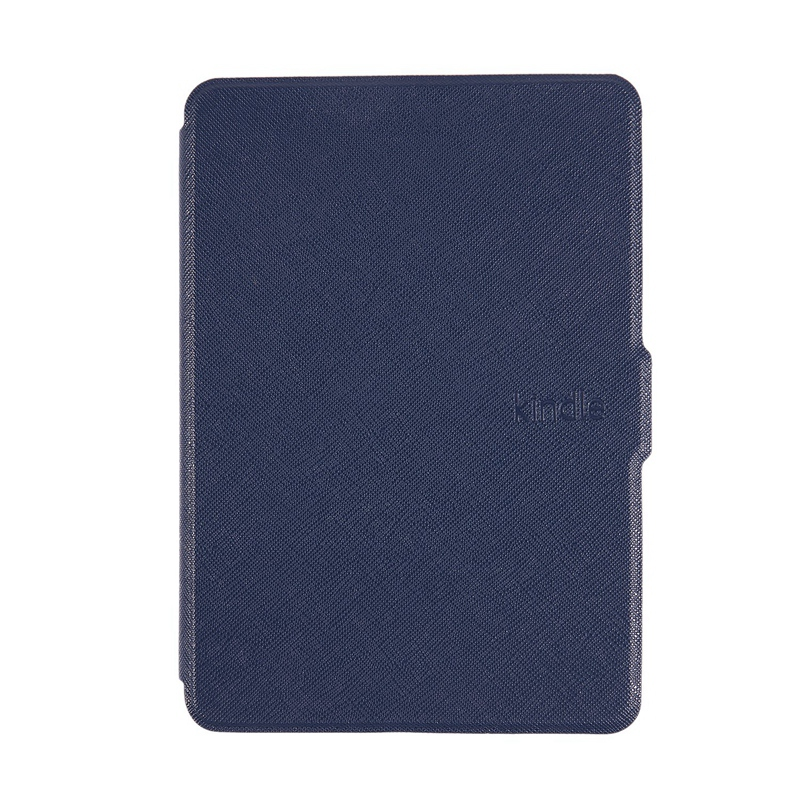 Magnetic PU Leather Cover Case Slim For Amazon Kindle Paperwhite (Cross Pattern, Dark Blue)