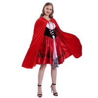 New Style Halloween Clothing Little Red Riding Hood Mantle Cosplay Uniform Adult Character Play