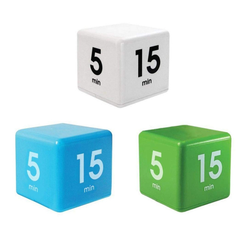 Workout Timer Cube Kitchen Timer The Miracle Cube Timer, 5, 15, 30 and 60 Minutes for Time Management Kids Timer