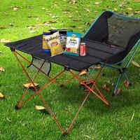 Hot Sale Portable Foldable Folding Table Desk Camping Outdoor Picnic 6061 Aluminium Alloy Ultra-light Folding Desk