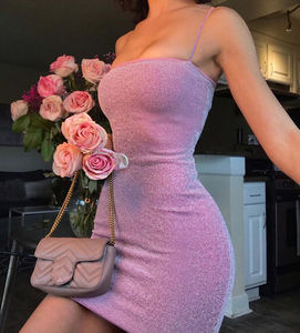 Image 1 - Женское Короткое облегающее платье Chrleisure, пикантное обтягивающее мини платье на тонких лямках, для ночного клуба, на лето