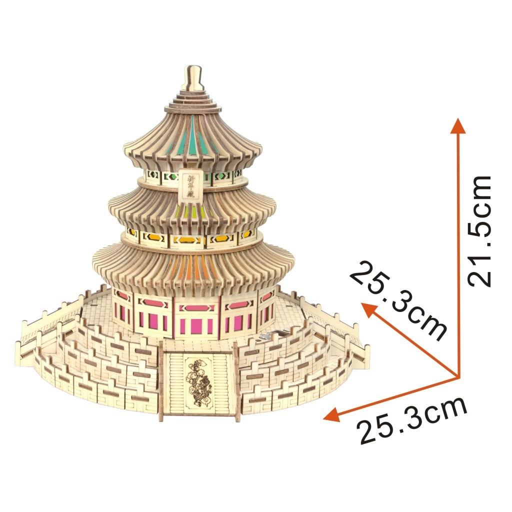 Пекин Tiantan красочный светильник (группа) 3D модель 3D головоломка модель головоломка лазерная обработка