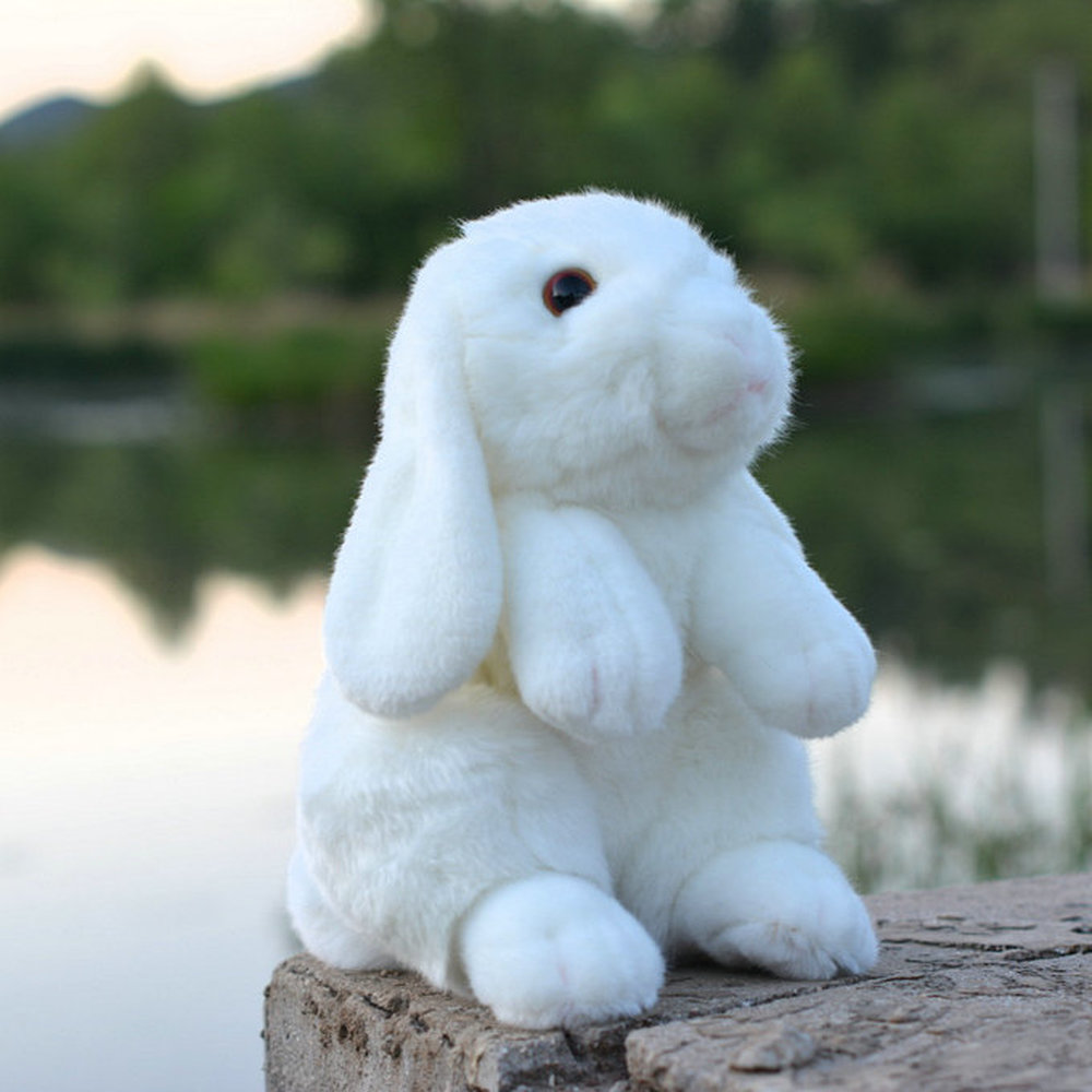 criancas branco animais de pelucia vida real boneca coelho realista mini simulacao animal nijntje knuffel kawaii