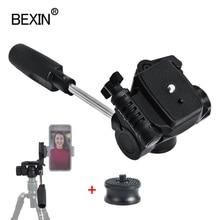 Caméra rotule tête trépied tête panoramique tête poignée tir ballhead dslr caméra montage adaptateur pour appareil photo numérique trépied monopode