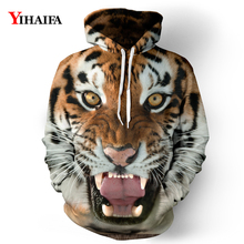Mens Womens 3D Hoodies Fashion Tiger Graphic Sweatshirt Casual Coat Pullover Unisex Tracksuit Hip Hop Tops zip front crop graphic pullover