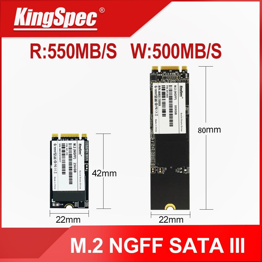 KingSpec SSD M2 SATA III NGFF M.2 2242 disque dur 128 go 256 go 512 go 1 to disque dur m. 2 sdd de lecteur à semi-conducteurs pour netbook dordinateur portable