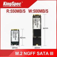 Kingspec ssd m2 sata iii ngff m.2 2242 disco rígido 128gb 256gb 512gb 1tb disco rígido m. 2 sdd da movimentação do estado sólido para o netbook do portátil