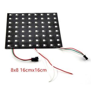 Image 5 - 8*8/16*16/8*32 WS2812B panel SK6812 Ragid Panel Address 5050 RGB DC5V SCHWARZ Weiß volle farbe display Bildschirm flexible Panel