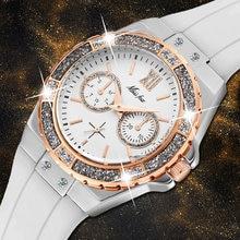 Женские часы missfox розовое золото уникальный хронограф роскошный