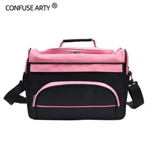 Image 3 - Hair Scissor Bag Salon Barber Handbag Hairdressing Comb Tools Bag Makeup Storage Bag Travel Hairstyling Carry Case