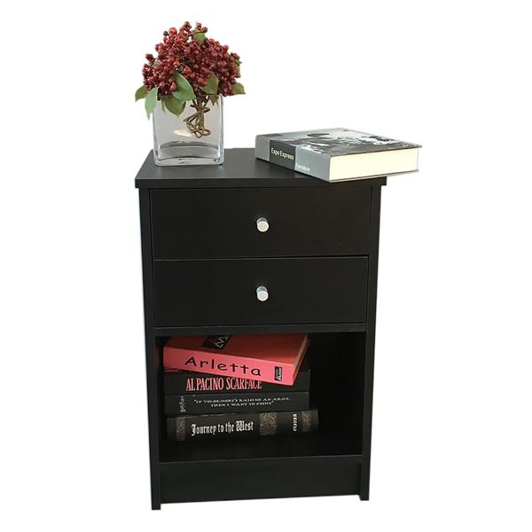 2 Set of Night Stand Nightstand Bedside Bed Sofa Side Table Book Laptop Stand