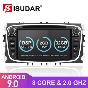 Image 1 - Isudar rádio automotivo 2 din, android 9, para ford/focus/S MAX/mondeo/C MAX/galaxy dvd multimídia gps usb dvr, octa core rom 32gb dvr
