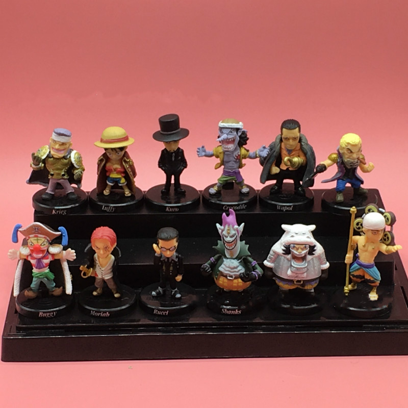 PVC ONE PIECE : 12 figurines Luffy // Moria // Crocodile Anime gift figures
