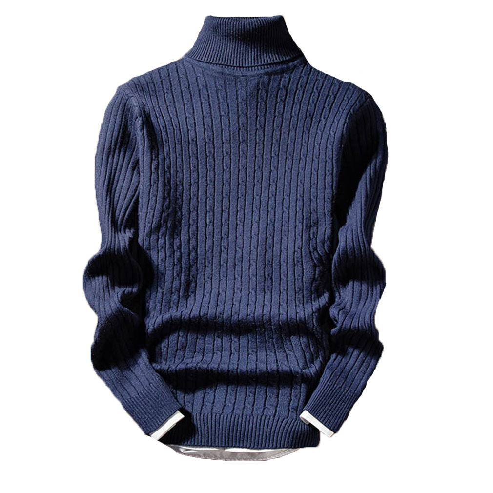 Men's Long Sleeve Thermal Casual New Sweater Long Sleeve Fashion Cotton High Collar Skivvy Turtle Neck Sweater Winter