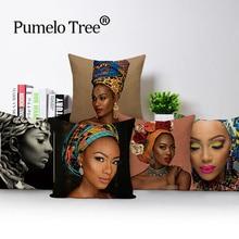 Case Cushion-Cover Pillows Kissen Living-Room Sofa Linen Retro Colorful Home African