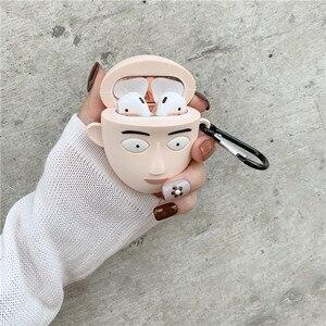 Image 4 - 3D חמוד יפן קריקטורה אחת אגרוף איש בסאיטמה אוזניות מקרים עבור Apple Airpods 1/2 סיליקון עמיד הלם הגנת אוזניות כיסוי