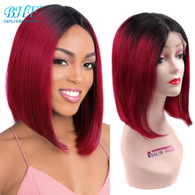 BHF – perruque Lace Closure Wig 100% naturelle brésilienne, cheveux Remy lisses, 13x4x1 T