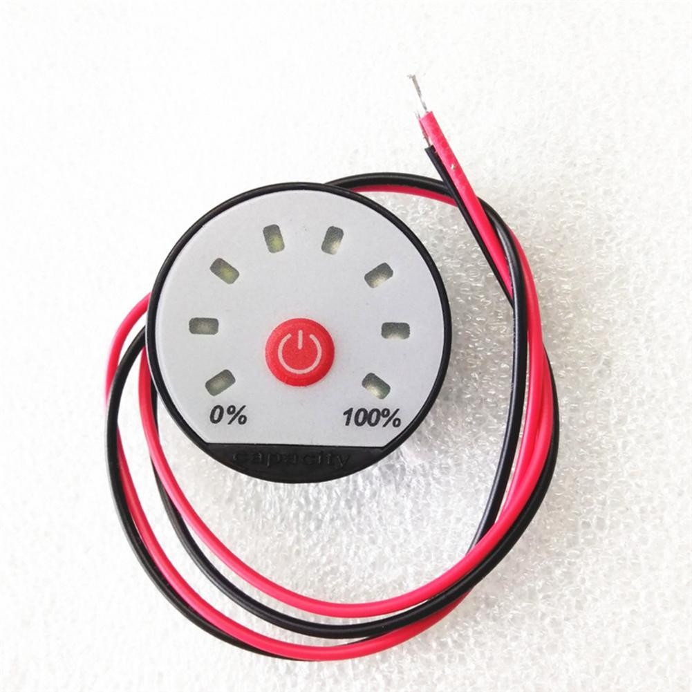 Battery Indicator 8-65V Universal LCD Car Acid Lead Lithium Battery Capacity Indicator Digital Voltmeter Voltage Tester JS-8T
