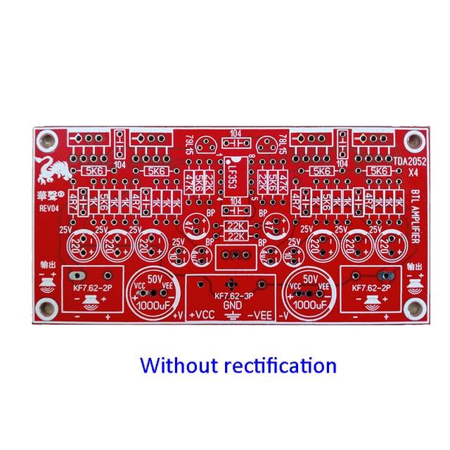 TDA2052 BTL bordo dellamplificatore di potenza 2X80W streo canale PCB scheda di amplificazione