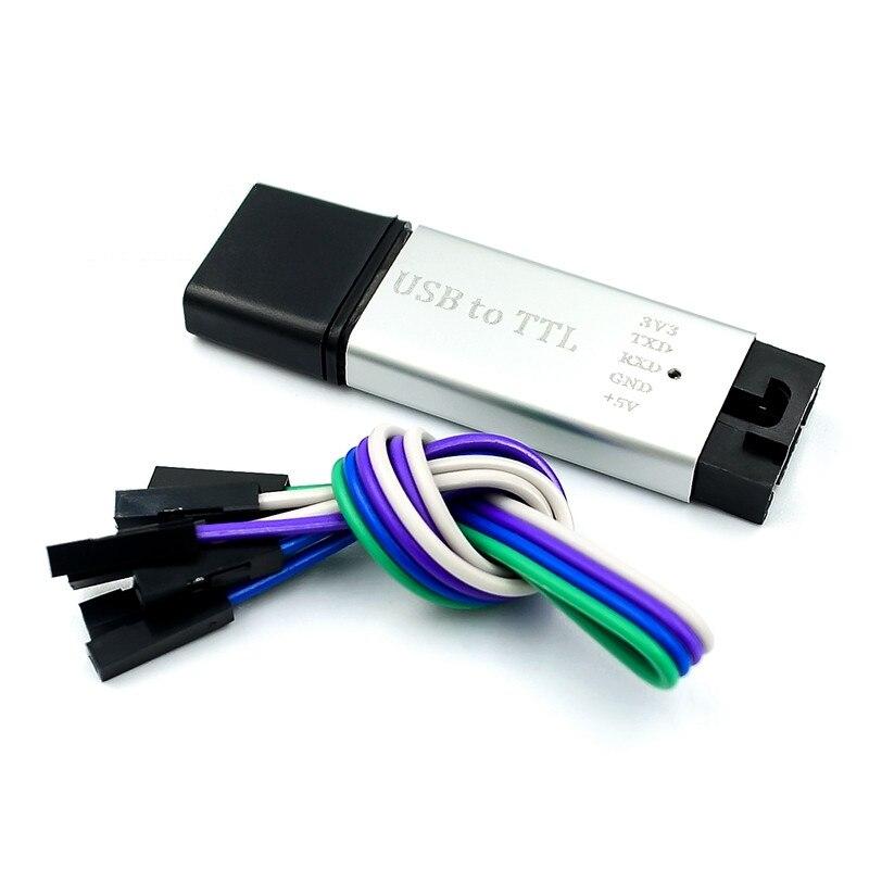 2PCS/LOT Aluminum Case CP2102 Module USB To TTL Serial Port Module STC Loader Download Line Brush Upgrade Board