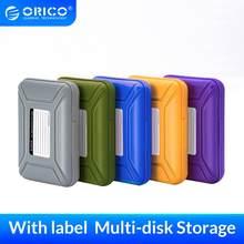 ORICO 3,5 zoll Externe Festplatte HDD Schutz Lagerung Box mit Label Wasser Abweisend Stoßfest Funtion