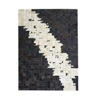 American style luxury genuine cowhide skin fur patchwork rug   big size decoration bedroom  carpet  hotel rug SALES