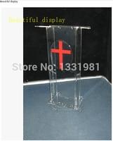 Small cheap acrylic lectern / plexiglass pulpit / perspex rostrum acrylic desktop lectern cheap acrylic lectern plexiglass -