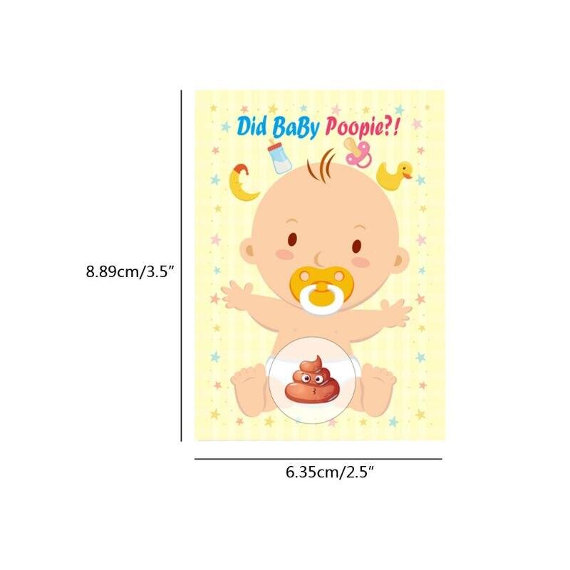 Baby Shower Scratch Off Game Raffle Card Gender Neutral Boy Girl Funny Activity G99C