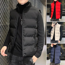 Jaqueta masculina sem mangas colete outono e inverno jaquetas quente para baixo coletes casuais casacos masculinos fino colete macio