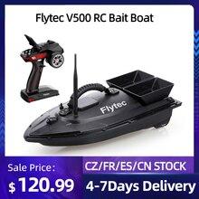 Радиоуправляемая рыболовная лодка Flytec V500 5,4 км/ч, высокоскоростная радиоуправляемая лодка, рыболокатор 1,5 кг, загрузка 500 м, дистанционное уп...