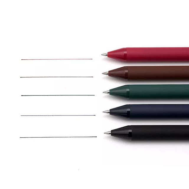 5pcs Vintage Pure Color Pen Ballpoint 0.5mm Multi Color Gel Ink Roller Ball Pens for Writing Signature Candy Gift School A6696 2