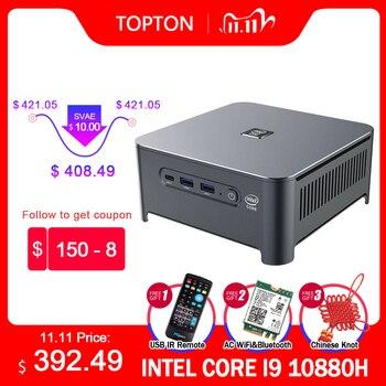 10th Gen Intel Core Mini PC i9 10880H i7 10750H i5 10300H Windows 10 Linux 2*DDR4 2*M.2 2*Lan WiFi DP HDMI 4K Computer HTPC NUC
