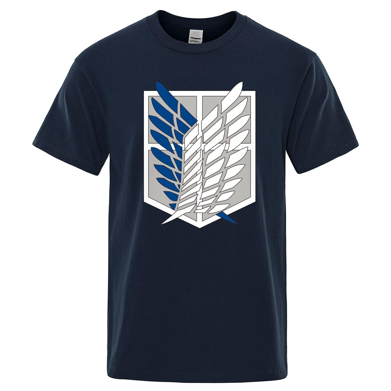 Camiseta de attack on titan, camisetas de algodão, manga curta masculinas, anime japonês mikasa topos homem